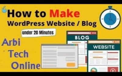 Do It Yourself – Tutorials – Make a WordPress Website in 20 Minutes Complete A to Z Tutorial Arbi Tech Online