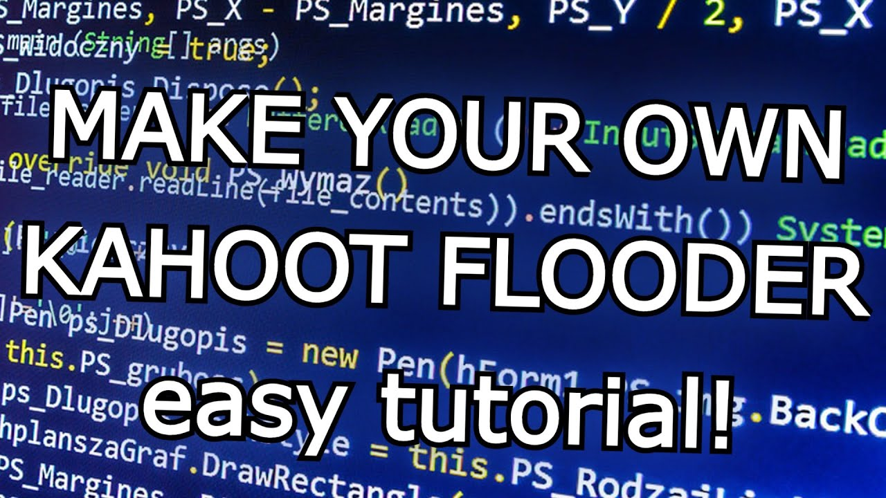 Make your own kahoot flooder | part 2 | auto answering