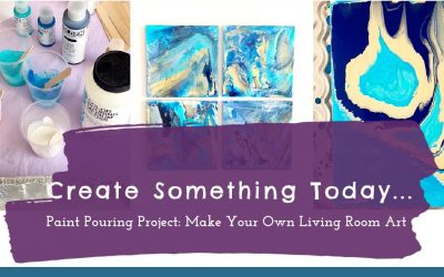 Do It Yourself – Tutorials – Paint Pouring Project:  Make Your Own Living Room Art