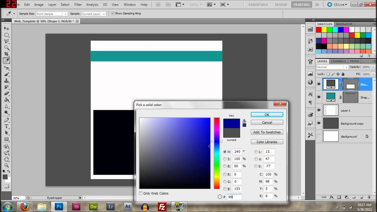 [TUTORIAL]How to Make Your own website in Photoshop and Dreamweaver [Episode 1 PART 1]