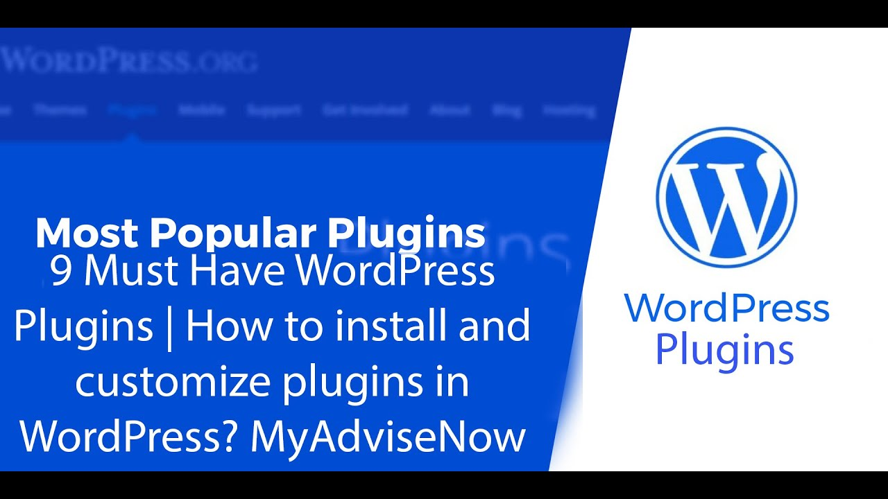 9 Must Have WordPress Plugins | How to install and customize plugins in WordPress?