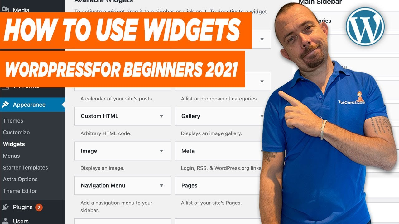 How To Use WordPress Widgets 2021 - WordPress For Beginners