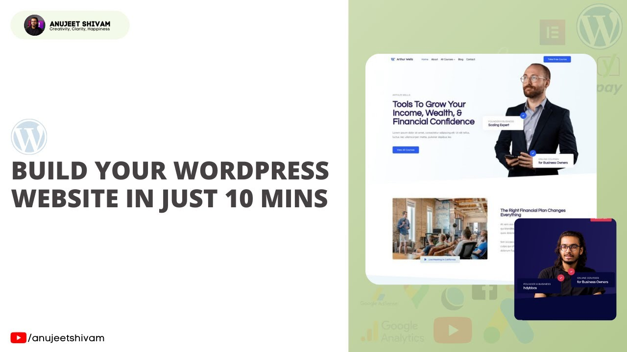 How to Create your WordPress Website in 10 Mins   WordPress Tutorial   Simple Website   Hindi
