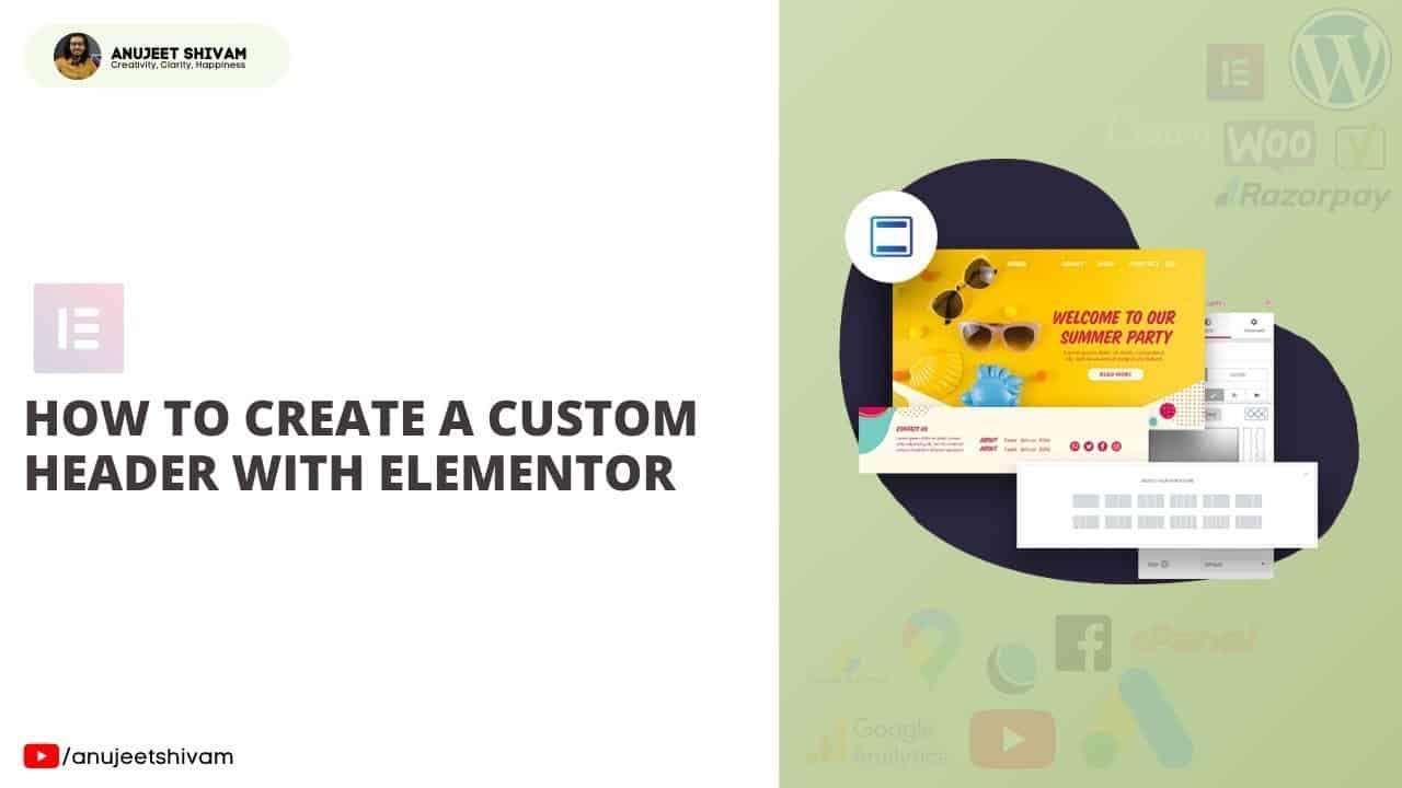 How to Make Custom Header in Elementor | Free  | WordPress Tutorial | Elementor | Hindi