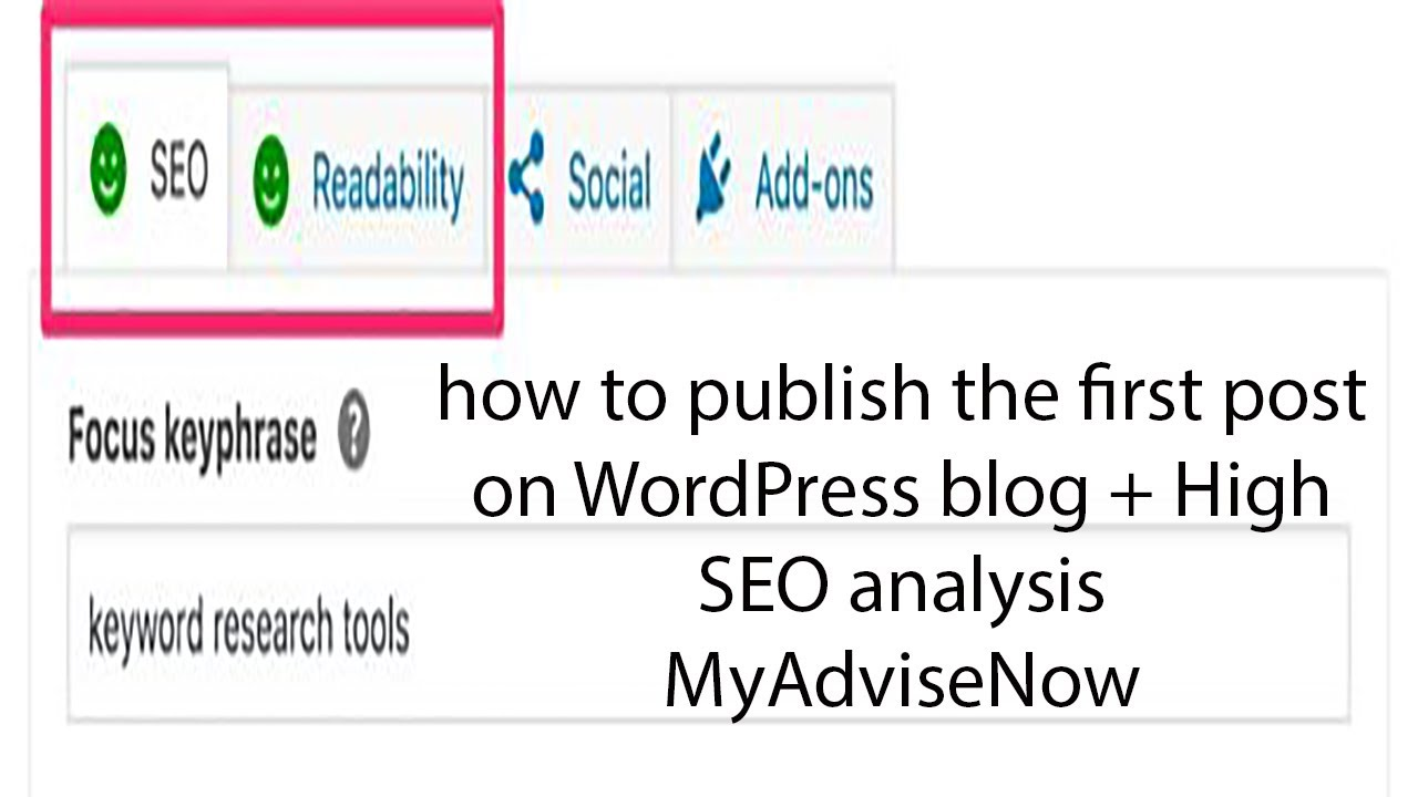 How to publish first post on WordPress | Optimizing WordPress Content For SEO