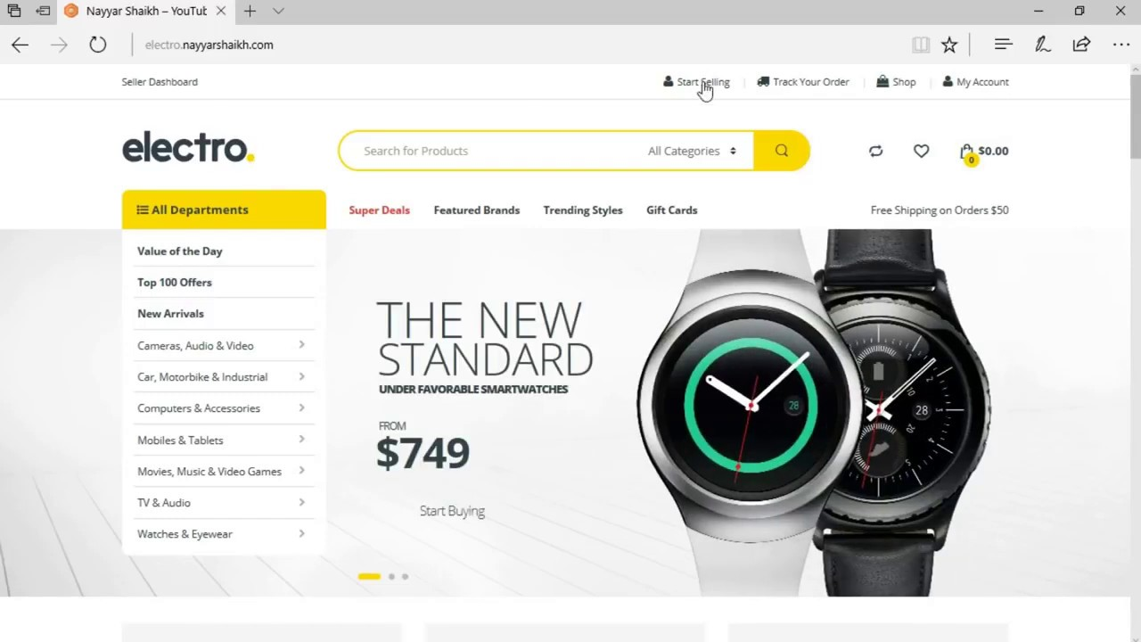 How to create ecommerce website free 2020.(online store)