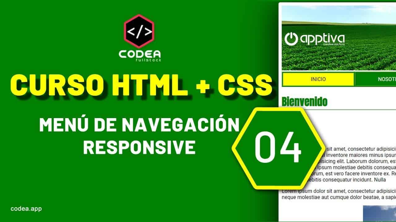 ¿Cómo hacer un menu responsive ? CURSO HTML+CSS  PÁGINA WEB BÁSICA parte 04