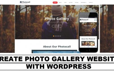 Do It Yourself – Tutorials – How to Create a Photo Gallery Website on WordPress Platform | Easy to Learn