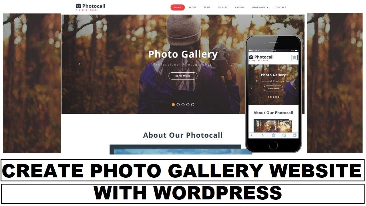 How to Create a Photo Gallery Website on WordPress Platform | Easy to Learn