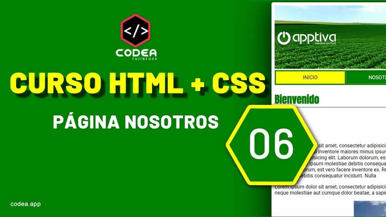 Página nosotros.html CURSO HTML+CSS PÁGINA WEB BÁSICA parte 06