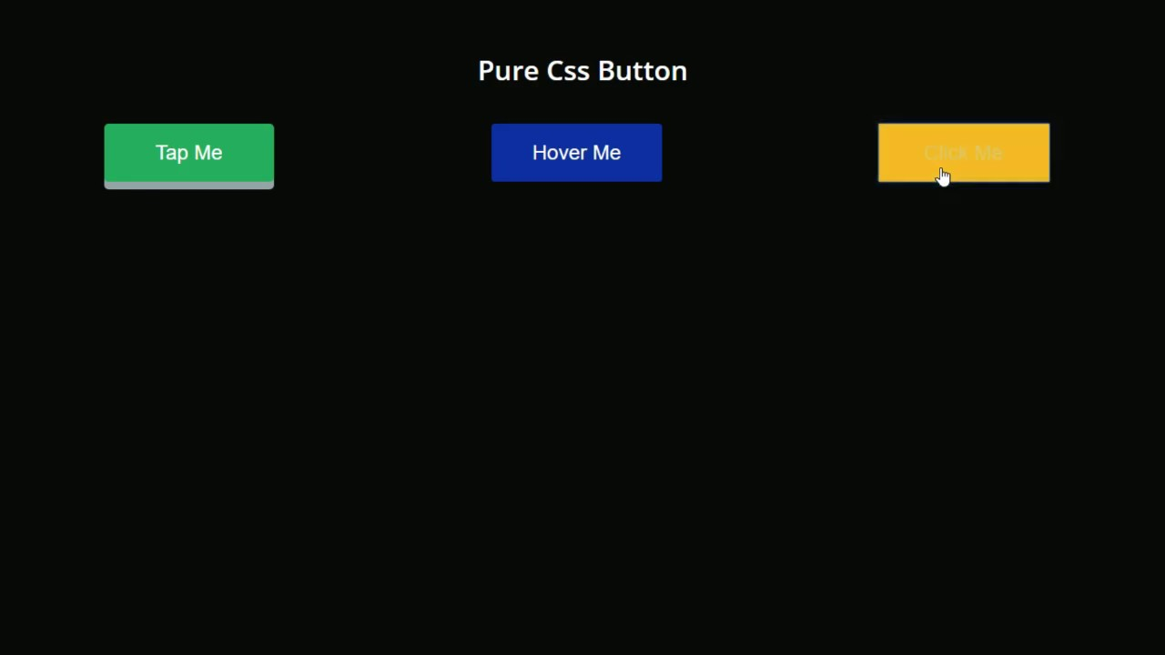 Button Hover and Active Effect    HTML and CSS Only no JavaScript