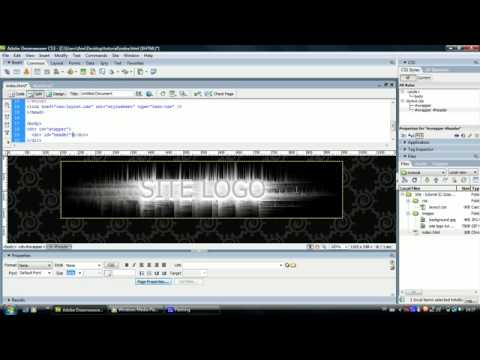 Dreamweaver Tutorial - Creating a Website - Div tags, CSS