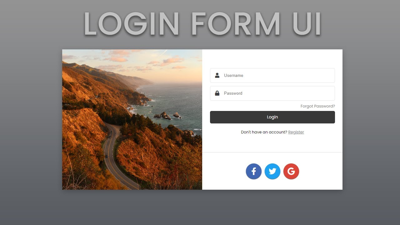 Beautiful Form Design Tutorial with HTML, CSS, & JS