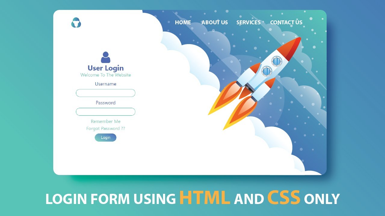 Create An Attractive Login Form Using HTML And CSS || How To Make Login Form Using HTML And CSS
