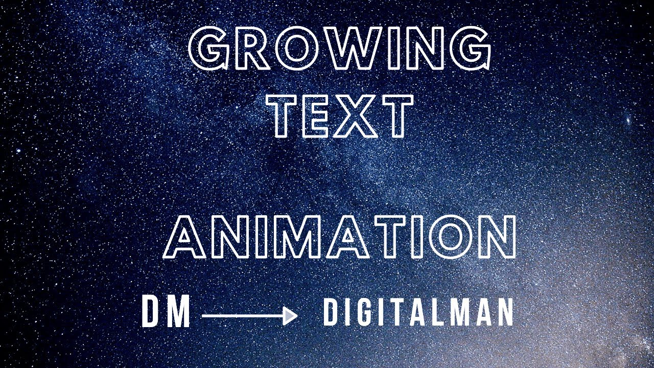 CSS Text Animation   Growing Text Animation   HTML and CSS