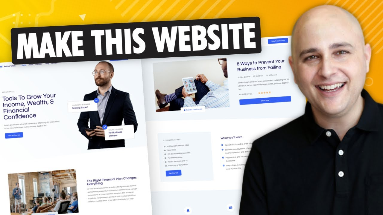 How To Make a Website With WordPress Only - No Slow/Complicated Page Builder