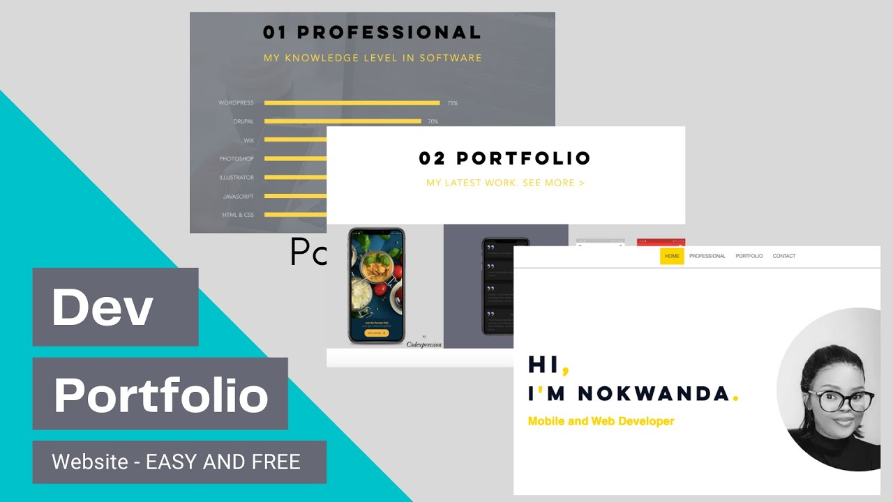 How to make a PORTFOLIO Website for Software Developer | Deploy it online with no code needed | 2021