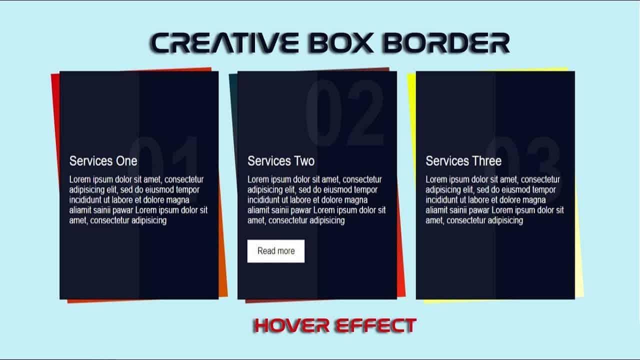 CSS Skew Border | Creative Box with Skew Border & Hover effect in Hindi |