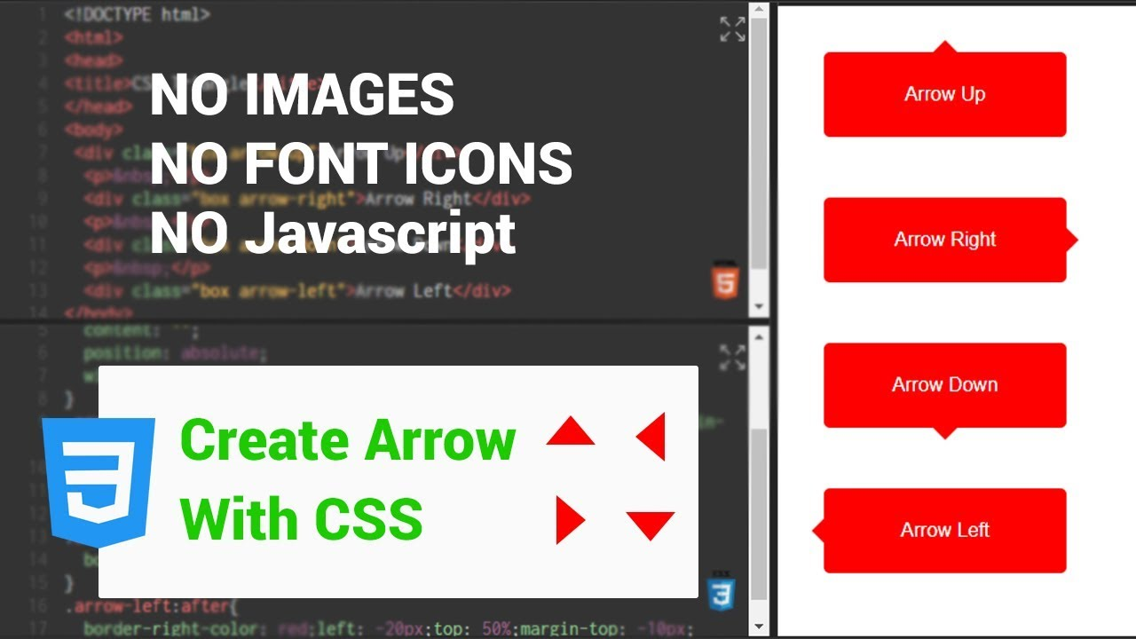 Arrows using CSS Only | CSS Code by htmlcss xyz | Pure CSS