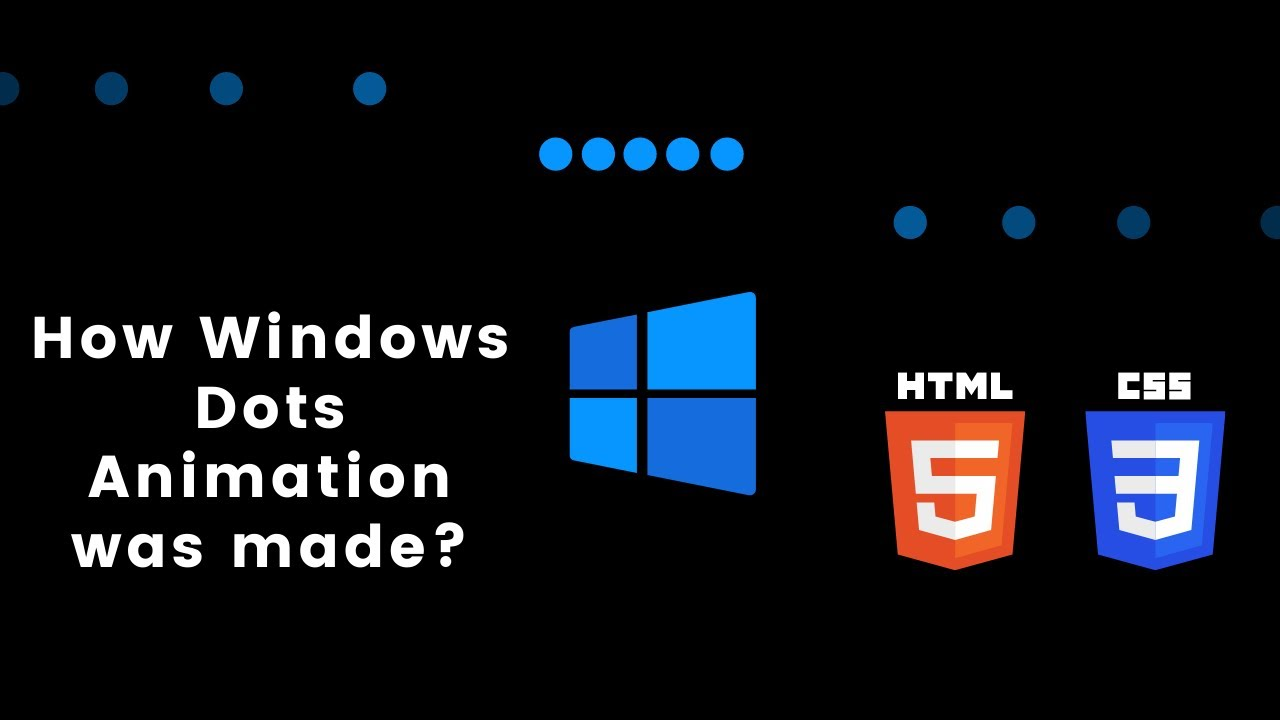How to Design Windows Loading Animation With HTML & CSS    Code Beauty