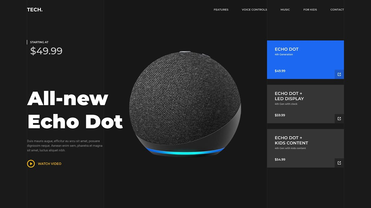 Adobe XD Product Website Design - Tutorial