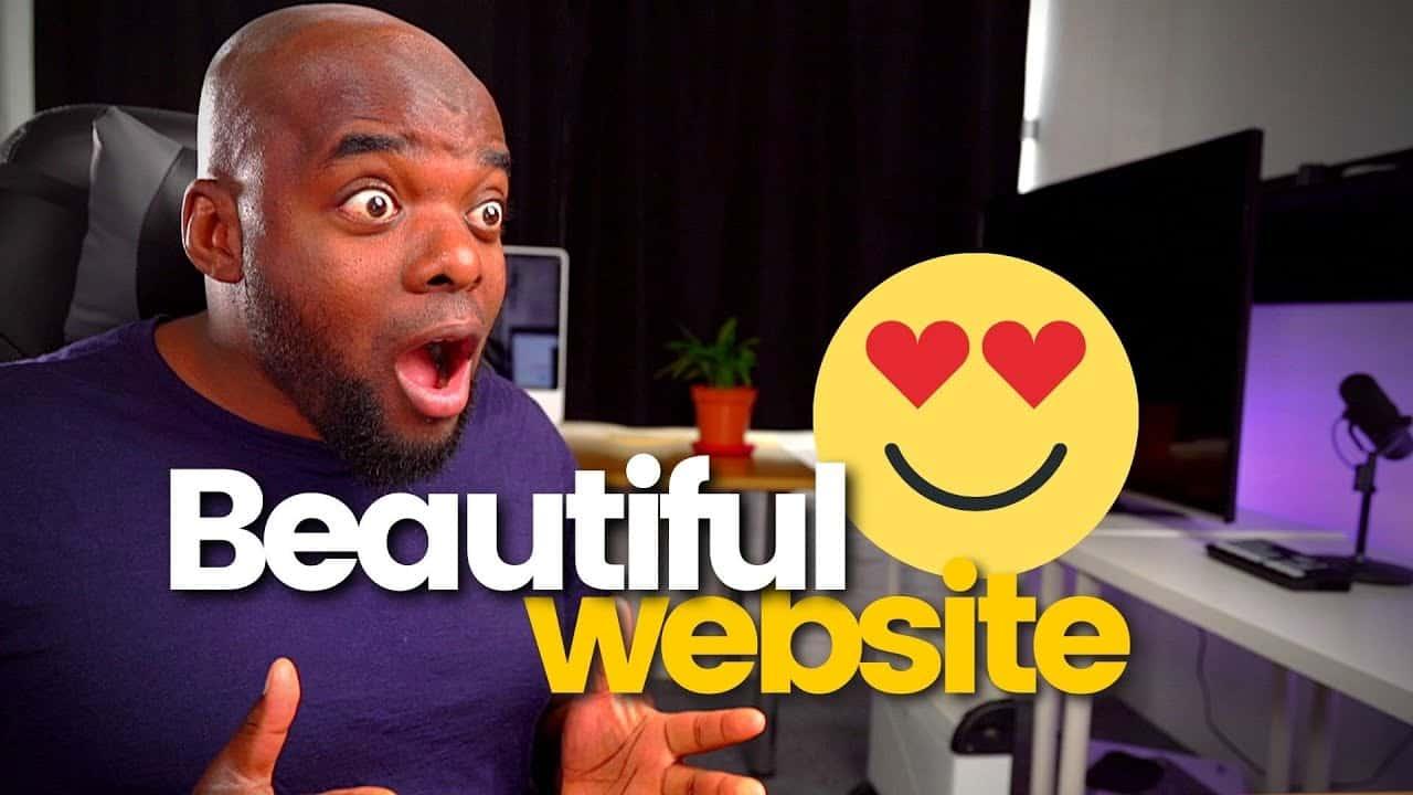Beautiful website design tutorial 2021