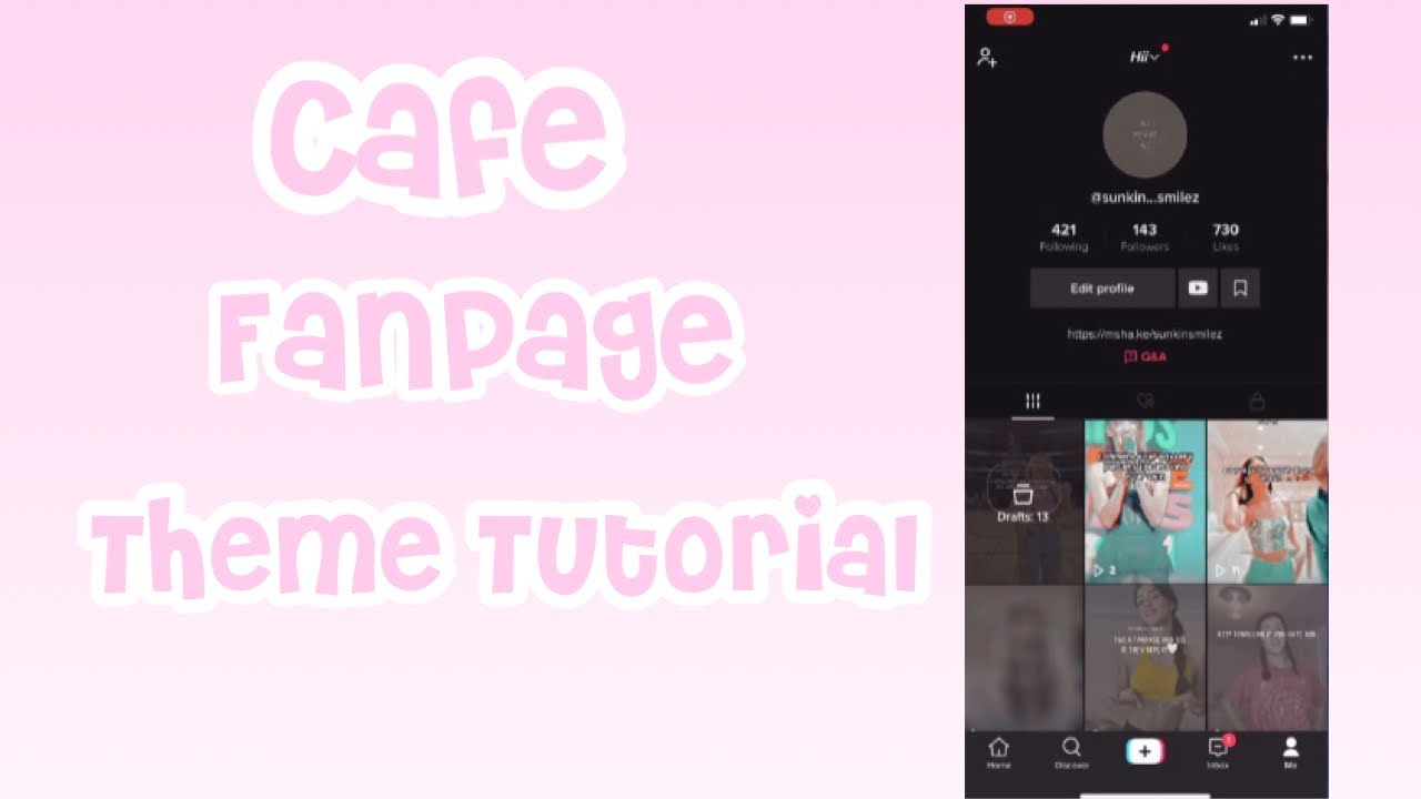 Cafe Fanpage Theme Tutorial - Mia