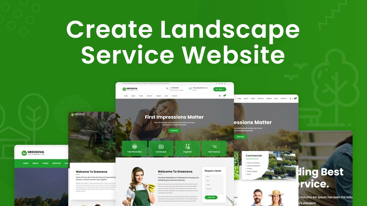 Create Website For Landscape, Gardening and Lawn Care Services