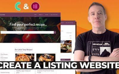 Do It Yourself – Tutorials – Create a Listing Website WordPress & JetEngine
