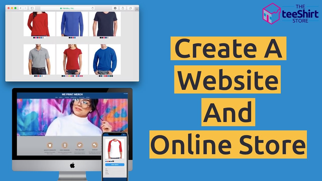 Create a website and online store