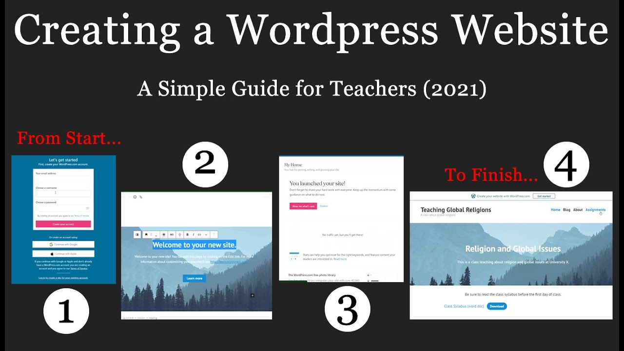 Creating a Wordpress Website - A Simple Guide for Teachers (2021)