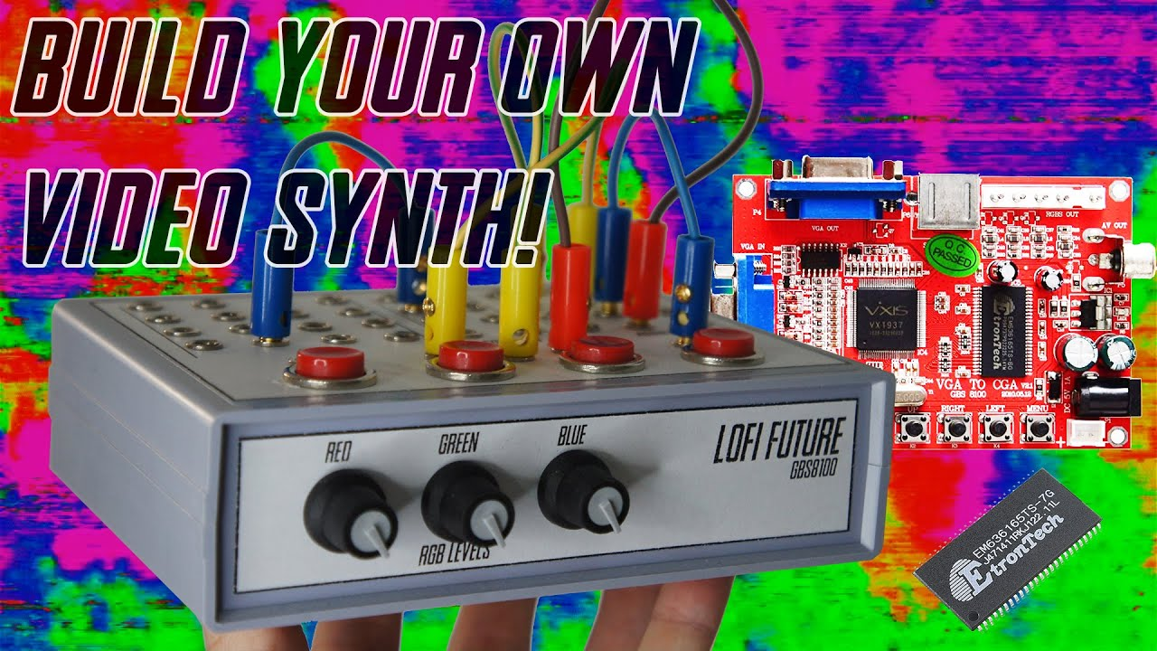 DIY Video Synth Tutorial - How To Circuit Bend GBS-8100 - Build Your Own Video Synth / Processor!