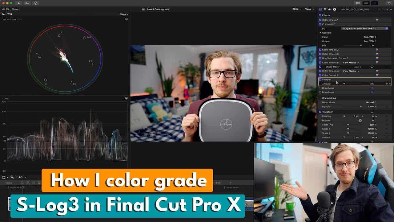 How I Color Grade My Videos! | S-Log 3 Final Cut Pro X Tutorial