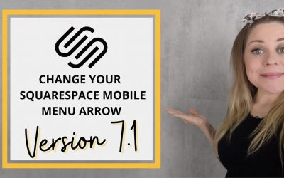 Do It Yourself – Tutorials – How To Change the Mobile Menu Arrow in Squarespace 7.1 // Squarespace 7.1 CSS Tutorial