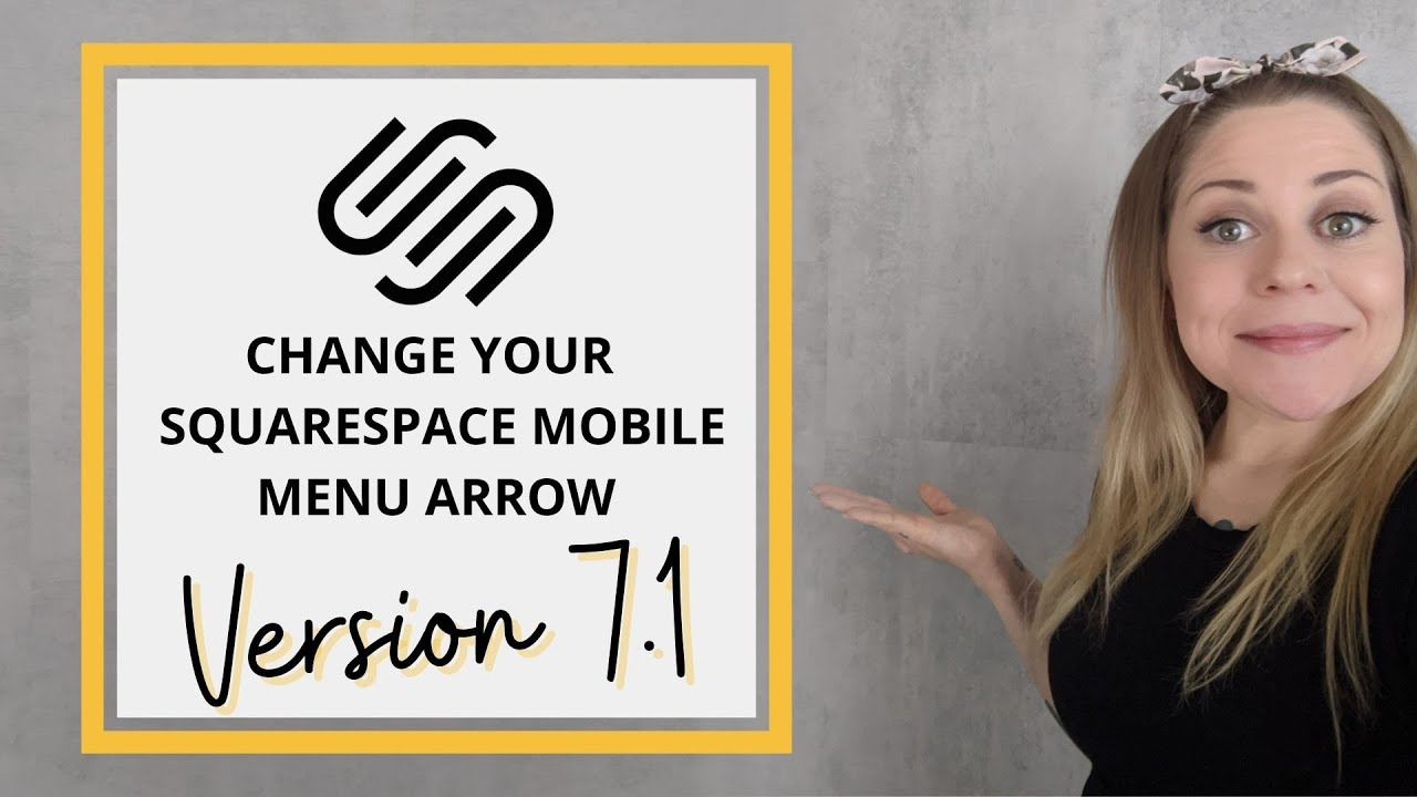 How To Change the Mobile Menu Arrow in Squarespace 7.1 // Squarespace 7.1 CSS Tutorial