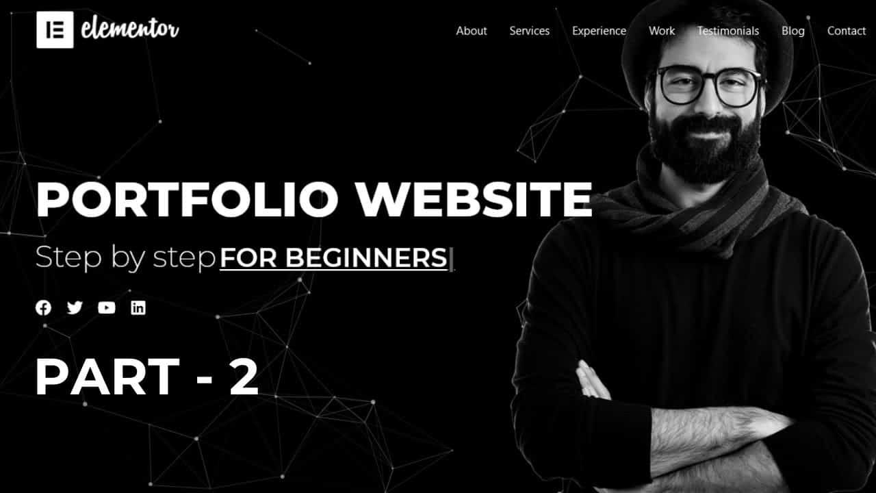 How to make portfolio website in wordpress with elementor (Part -2)