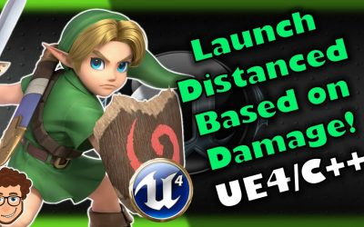 Do It Yourself – Tutorials – Knockback/Launch Based on Damage! | How To Make YOUR OWN SSB Game | Unreal and C++ Tutorial, Part 18
