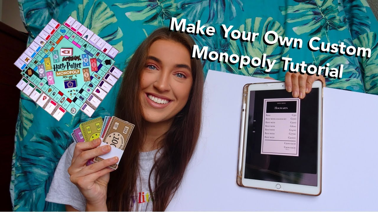 Make Your Own Custom Monopoly Tutorial