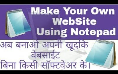 Do It Yourself – Tutorials – Make your own website using notepad (Part1).
