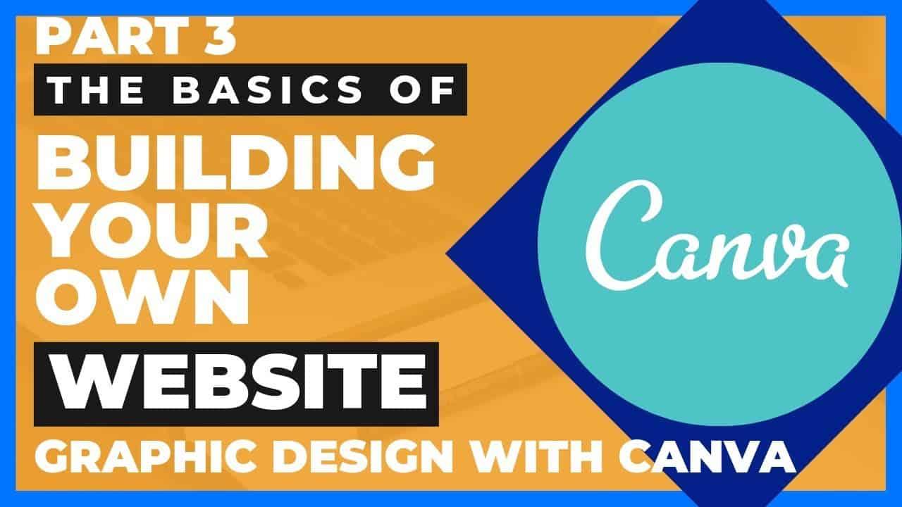Website Design With Canva #websitedesign Part 3 Design Your Own Website