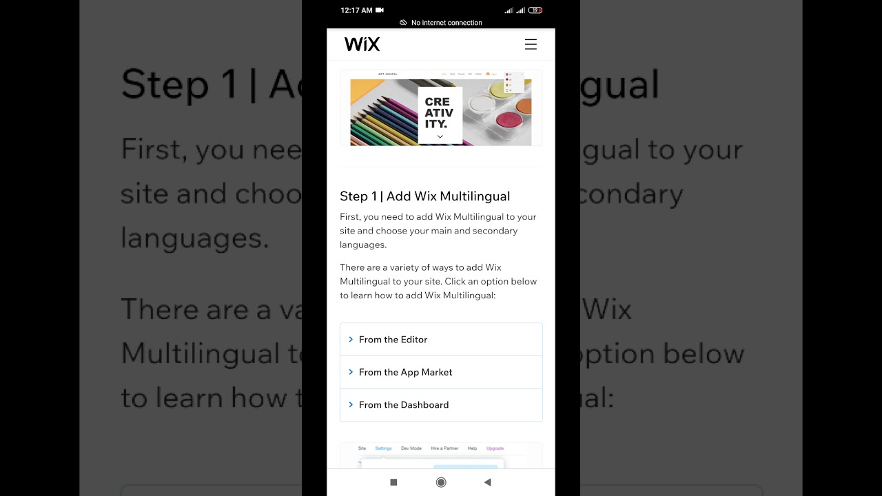 how to create website on wix.com in free