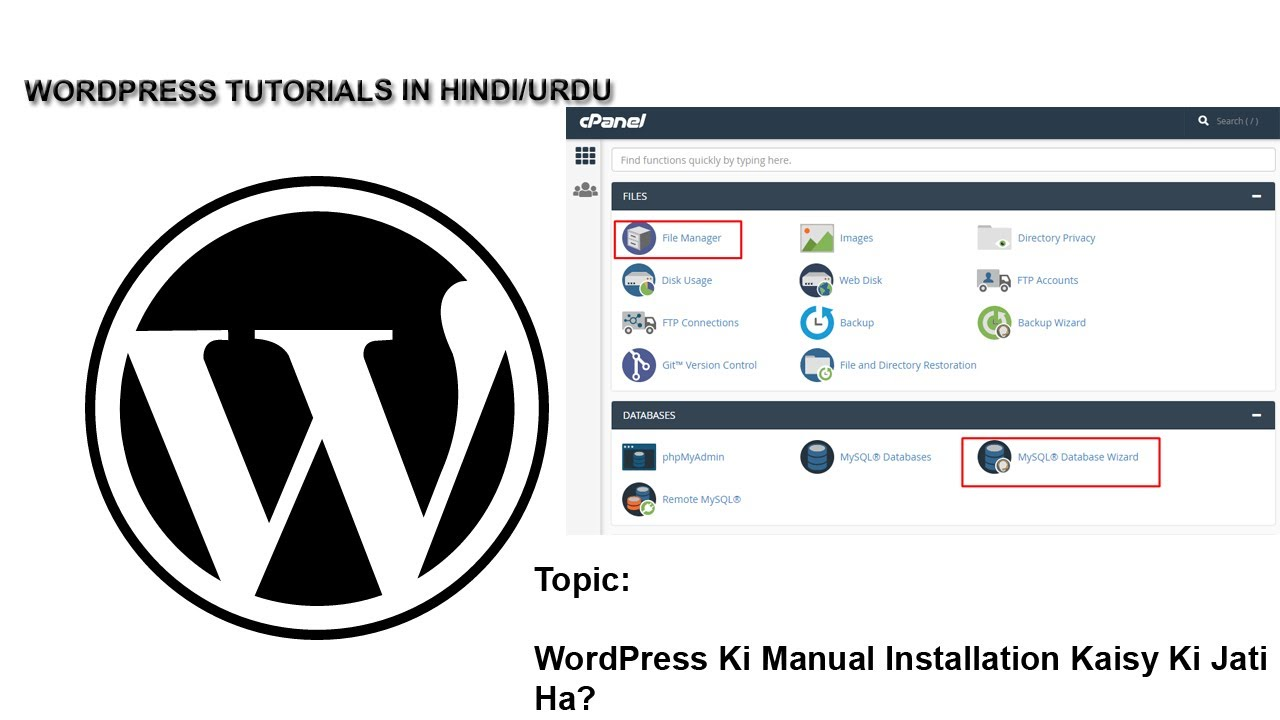 How to Install WordPress Manually Through Cpanel at Your Online Earning Blog or Online Earning Site?