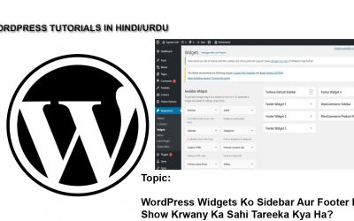 WordPress For Beginners – How to Use WordPress Widgets in Sidebar and Footer?