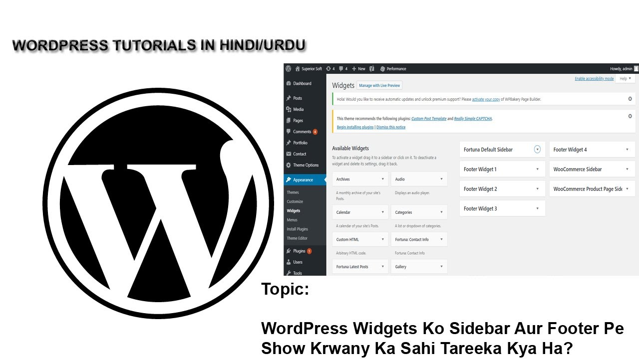 How to Use WordPress Widgets in Sidebar and Footer?