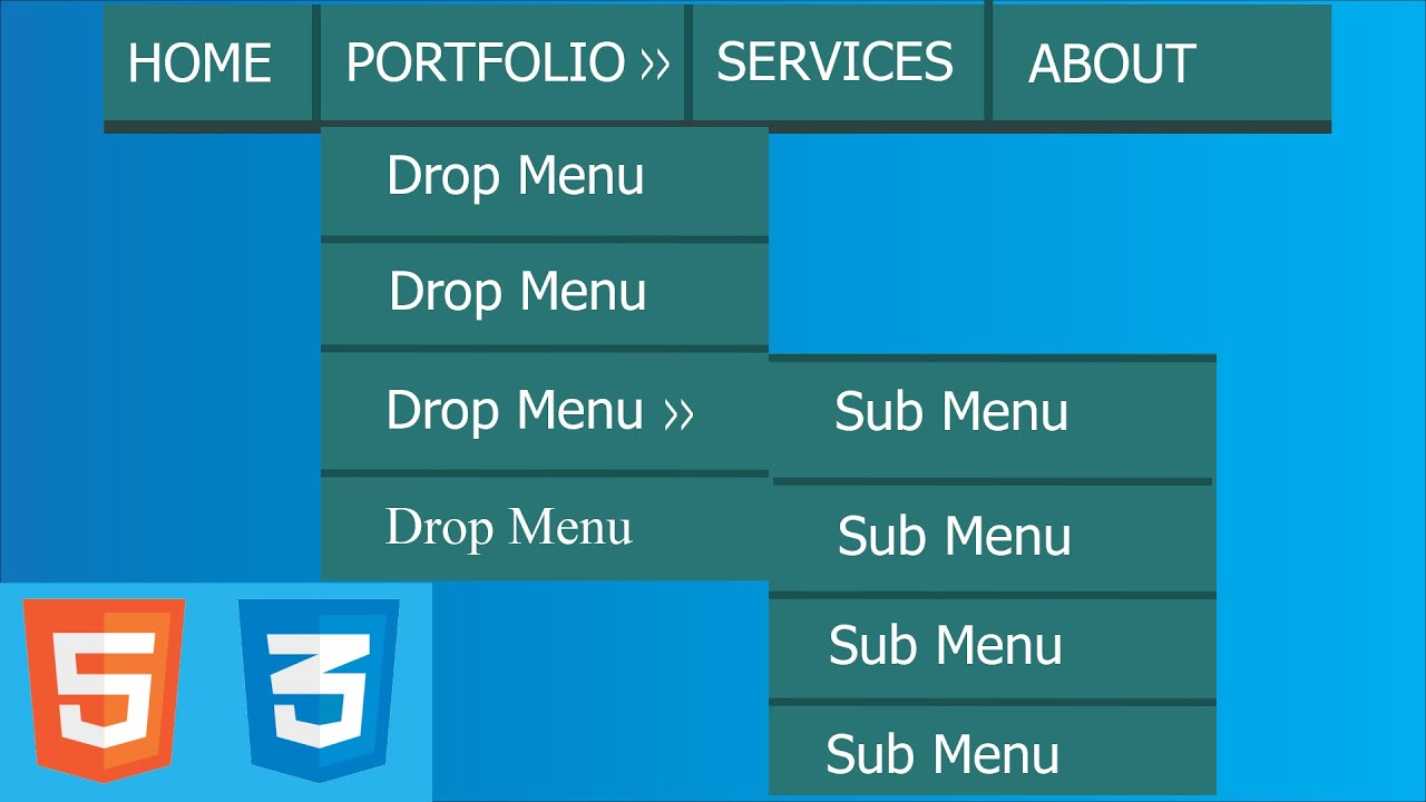 How to Make a Drop Down Menu Using HTML and CSS. Html Beginner Tutorials.