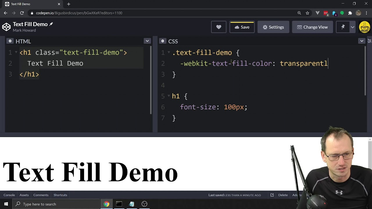 CSS Text Fill