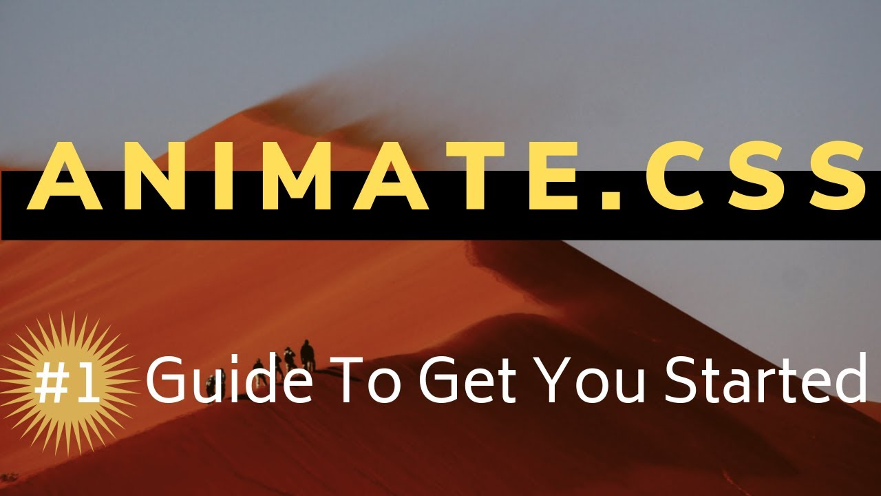Getting started with animate.css | (#1 Animate.css Tutorial)