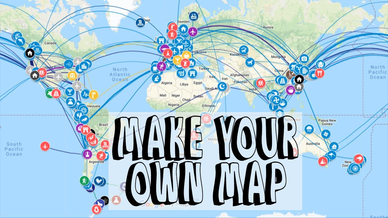 How to make your own travel map with Google MyMaps (Shareable, Customizable & Impressive!)
