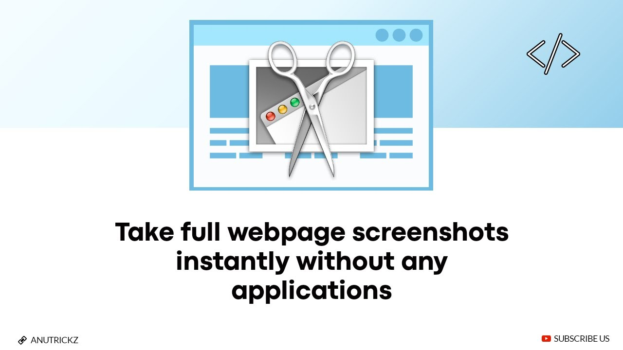 How to take full webpage screenshots instantly without any applications