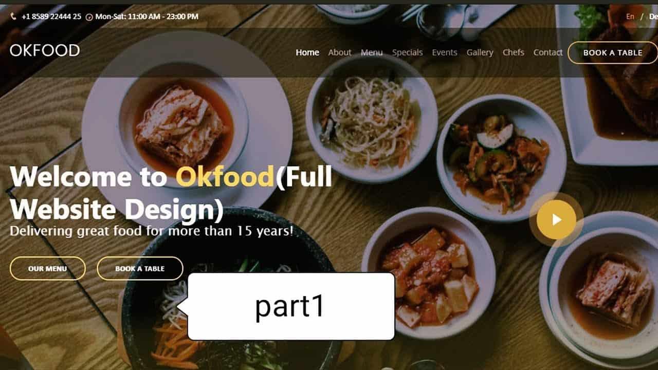 How To Make A Website Using HTML CSS & Bootstrap | Restaurant Website Design  (coding) part-1